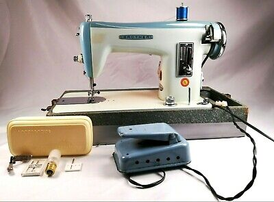 Brother 1351A Heavy Duty Straight Stitch Vtg Sewing Machine Blue/White Japan