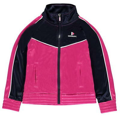 Donnay Junior Tracksuit Top Full Zip Lightweight Jacket Pink Navy UK Age 13 *7