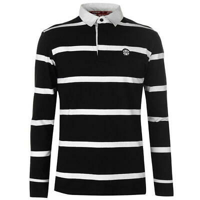 Zukie Rugby Shirt Mens Gents Polo Tee Top Full Length Sleeve Cotton Button