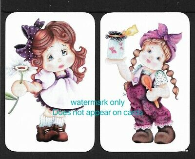 Swap Cards. 2 Single Cards. Cute Girls Modern NOT WIDES. Brand New Print