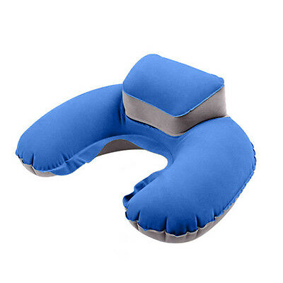 Travel Inflatable Neck Pillow U Shape Blow Up Neck Cushion PVC Flocking Relax