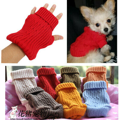 Knitted dog puppy jumper coat sweater for chihuahua mini poodle Cat XXXXS - XXS