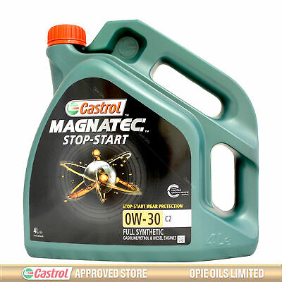 Castrol Magnatec Stop-Start 0w-30 C2 Fully Synthetic Engine Oil - 4 Litres 4L