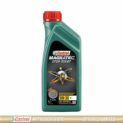 Castrol Magnatec Stop-Start 5w-30 S1 Fully Synthetic Car Engine Oil - 1 Litre 1L