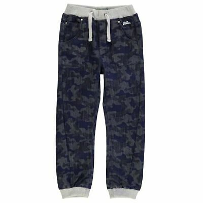 No Fear Junior Boys Jog Jeans Camouflage Print Blue Wash age 11-12 years *REF3