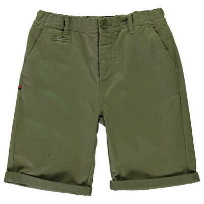 Kangol Chino Shorts Dark Green Junior Boys UK Size S Small *REF68