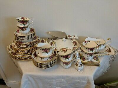 Royal Albert Old Country Roses Dinner Set - 53 Pieces