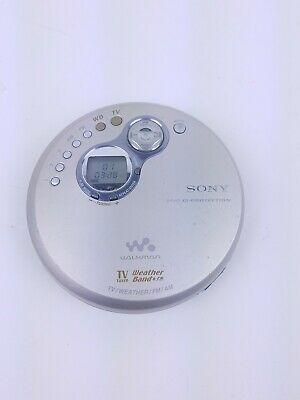 Sony D-FJ401 CD Walkman Discman G Protection AM/FM/ Weather Radio Tested
