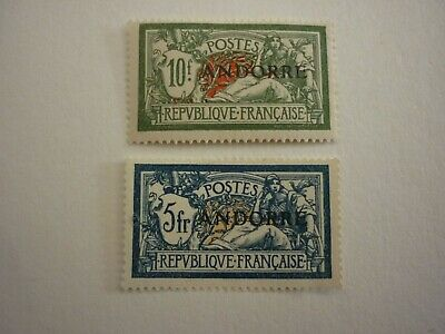 Andorre Timbres N°21-22 Neufs. Cote 482 Euros