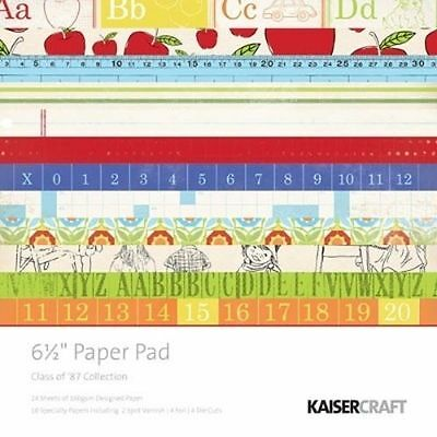"""KAISERCRAFT - CLASS OF 87 - 6.5""""x6.5"""" PAD (DESIGNER,SPECIALITY PAPERS & DIECUTS)"""