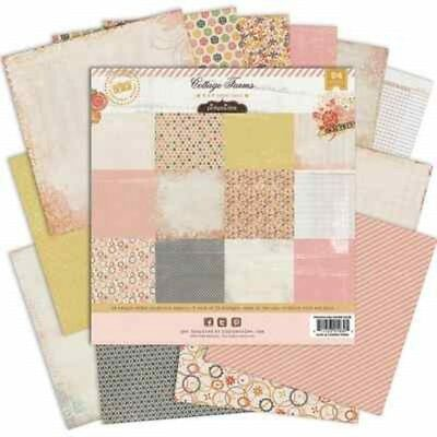 """COTTAGE FARMS - 6""""x6"""" Paper Pad - Pink Paislee"""