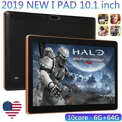 10.1'' HD Game Tablet Computer PC 10 Core Android 8.0 GPS 3G Wifi Dual Camera US