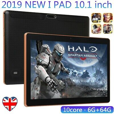 """10.1"""" Tablet PC Android 7.0 64GB Octa-Core WIFI Dual 2.0MP Camera Bluetooth UK"""
