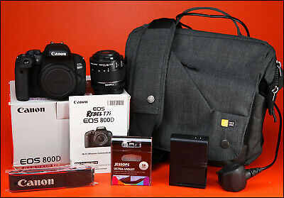 Canon EOS 800D DSLR Camera + 18-55mm Zoom Lens kit + Battery, Charger 20 Shots