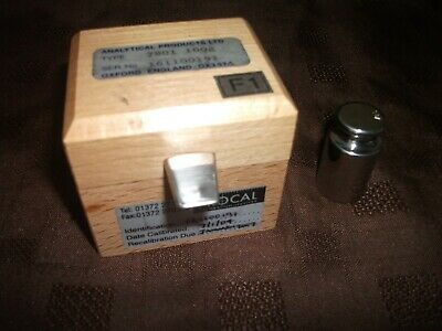 ANALYTICAL PRODUCTS LTD 2004 100g CALIBRATION WEIGHT BOXED
