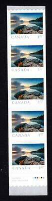 Canada MNH coil strip of 5 x $1.27, 2019 Far & Wide-Smoke Lake Algonquin ON