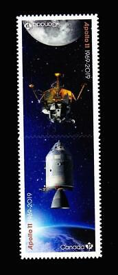 MNH QP die-cut  tête-bêche pair from BK, 2019 Apollo 11-Canada's contributions