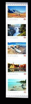 Canada MNH vertical coil strip of 5 'P', 2019 Far & Wide