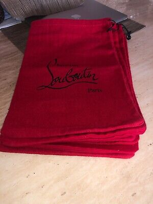 Authentic Christian Louboutin heel Red Dust Bag - 9 AVAILABLE