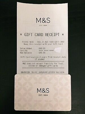 £40 M&S Marks and Spencer Gift Card Shopping Voucher In Store & Online