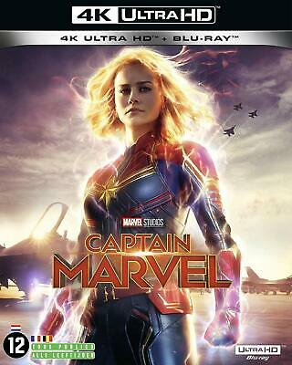 Captain Marvel   Blu Ray 4K Ultra Hd + Blu Ray Marvel  Neuf  Sous Cellophane