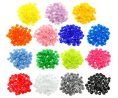15 Colours 300 Sets KAM Snaps Snap Starter Plastic Poppers Fasteners Buttons