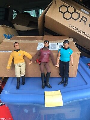 "Vintage 1974 MEGO Star Trek Lot (3) KIRK, SPOCK, and KLINGON 8"" Action Figures!!"