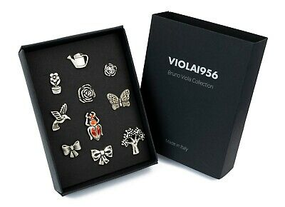 Set of 10 shank buttons - VIOLA1956 series gift box - Set 016. Romantic