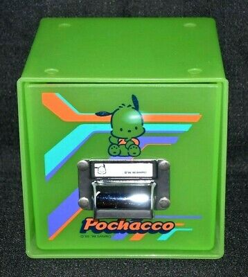 Pochacco by Sanrio Plastic File Storage Box Case Holder Green Clear Storage Box