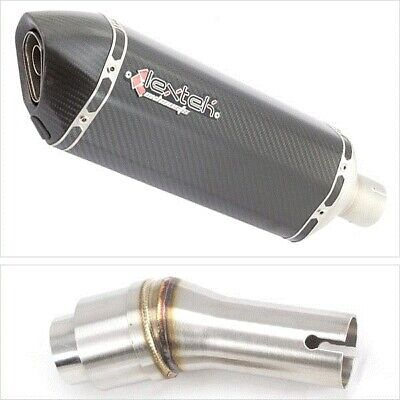 Lextek SP8C Carbon Fibre Hexagonal Exhaust Silencer with Link Pipe for Kawasaki