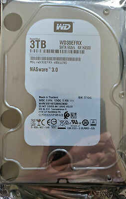 """Western Digital WD WD30EFRX Red 3TB NAS 3.5"""" NASware 3.0 Hard Drive NEW & SEALED"""