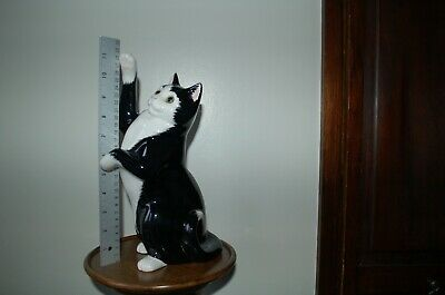 LOVELY CATS & CO LARGE 29cms   BLACK & WHITE CAT WITH GLASS EYES