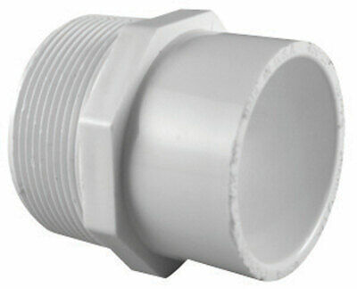 "Charlotte Pipe Adapter Sch 40 Pvc 1 "" X 3/4 "" White Pack of 25"