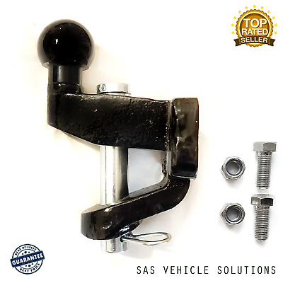 TOWING JAW BLACK BALL PIN TOWING HITCH COUPLING + BOLTS 3500kg