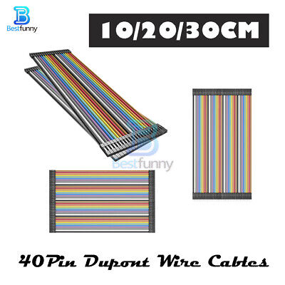 10/20/30cm Dupont Female to Female Male to Male/Female 40PIN Wire Jumper Cables