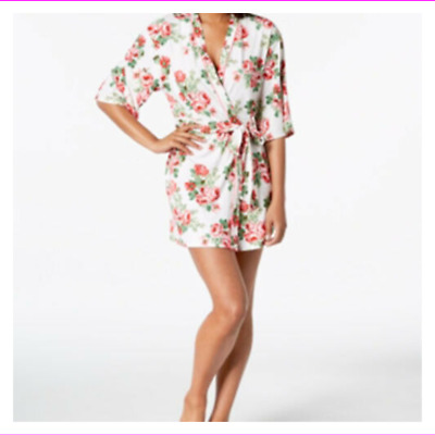Flora Nikrooz Women's Hits Above Knee Printed Cleo Knit Wrap Robe