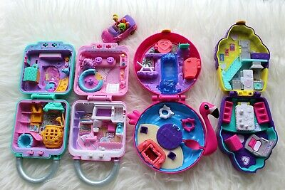 Lot Of 5❤️ Polly Pocket & Shopkins Lil' Secrets Compacts