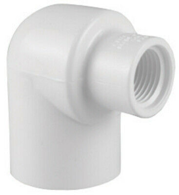 "Charlotte Pipe 90 Deg. Reducing Elbow Sch 40 Pvc 1/2 "" X 3/4 "" White"