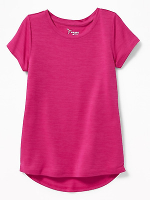 Old Navy Girls Size Large 10-12 Raspberry Color Active Wear Top Nwt