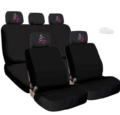 Bell Brand Black Seat Caps with Pink Fairy Headrest Cover 56252-8 Contains 2