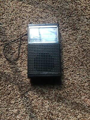 Vintage General Electric Ge 7-2500A Am/Fm Portable Transistor Radio Tested Wor