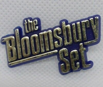 The Bloomsbury Set Band Rare Vintage Plastic Pin Badge Rock pop synth music 80's