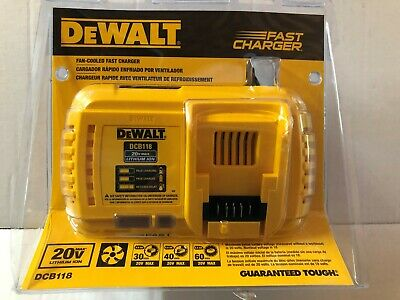 DEWALT DCB118 20V 60V MAX FLEXVOLT Lith-Ion FAN COOLED FAST BATTERY CHARGER