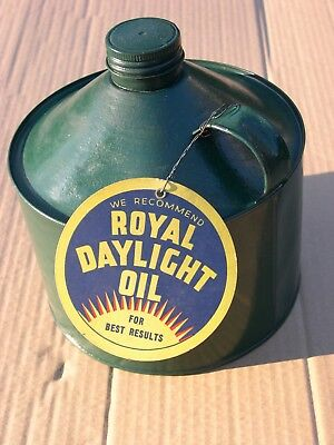 Rare 4 Pint Royal Daylight Paraffin Petrol Advertising Kerosene Oil Tinplate Can