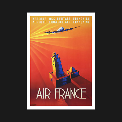 Air France Vintage Travel Poster / Print - Retro Wall Art Decor - A5 A4 A3