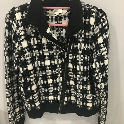 Womens Witchery Black and White Jacket/cardigan Size L