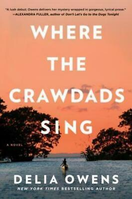 Where The Crawdads Sing by Delia Owens (2018, Hardcover)  REESE'S BOOK CLUB