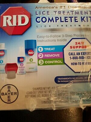 3 Boxes- RID Lice Treatment Complete Kits. Exp 01/20