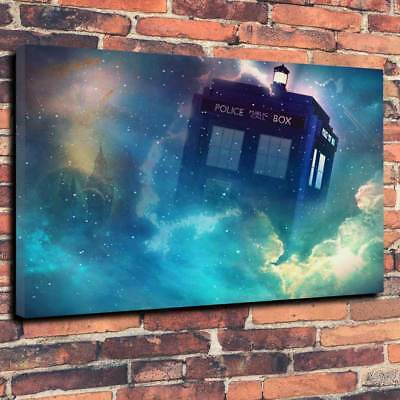 "Dr Who Tardis Printed Box Canvas Picture A1.30""x20""Deep 30mm Frame"