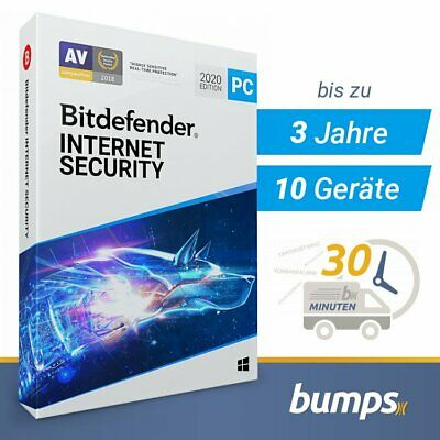 Bitdefender Internet Security 2020 – 1, 3, 5 und 10 Windows PC | 1, 2 u 3 Jahre